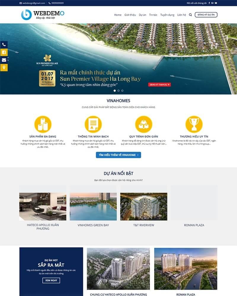 thiết kế webiste bất động sản giá rẻ hà nôi