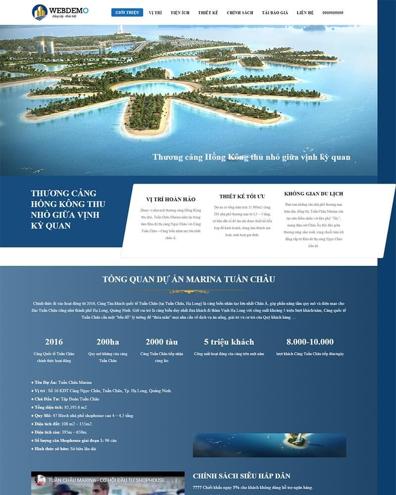 thiết kể website bất động sản giá rẻ