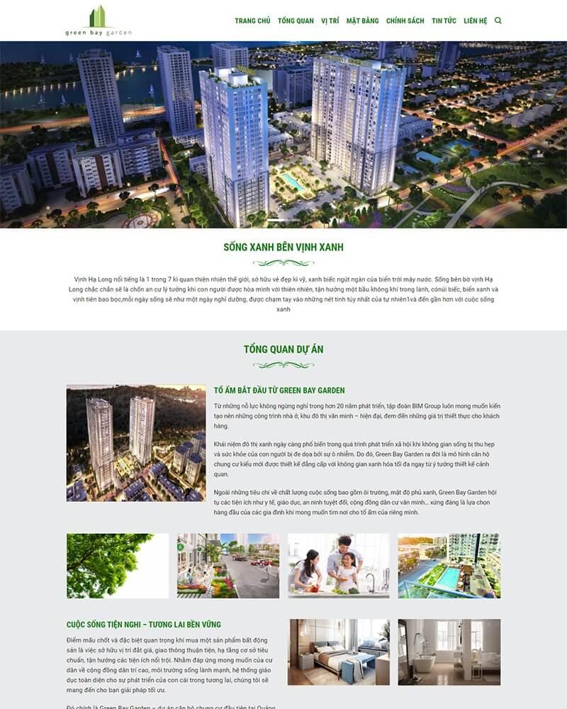 thiết kế website bất động sản giá rẻ hà nội