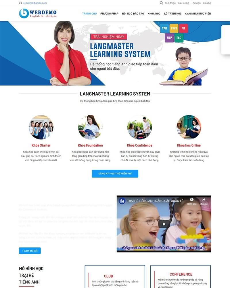 thiết kế website giáo dục giá rẻ