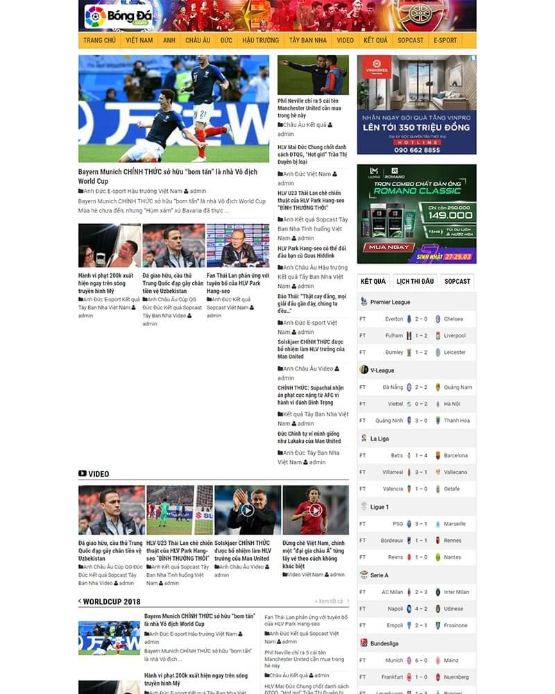 thiết kế website tin tức giá rẻ hà nội