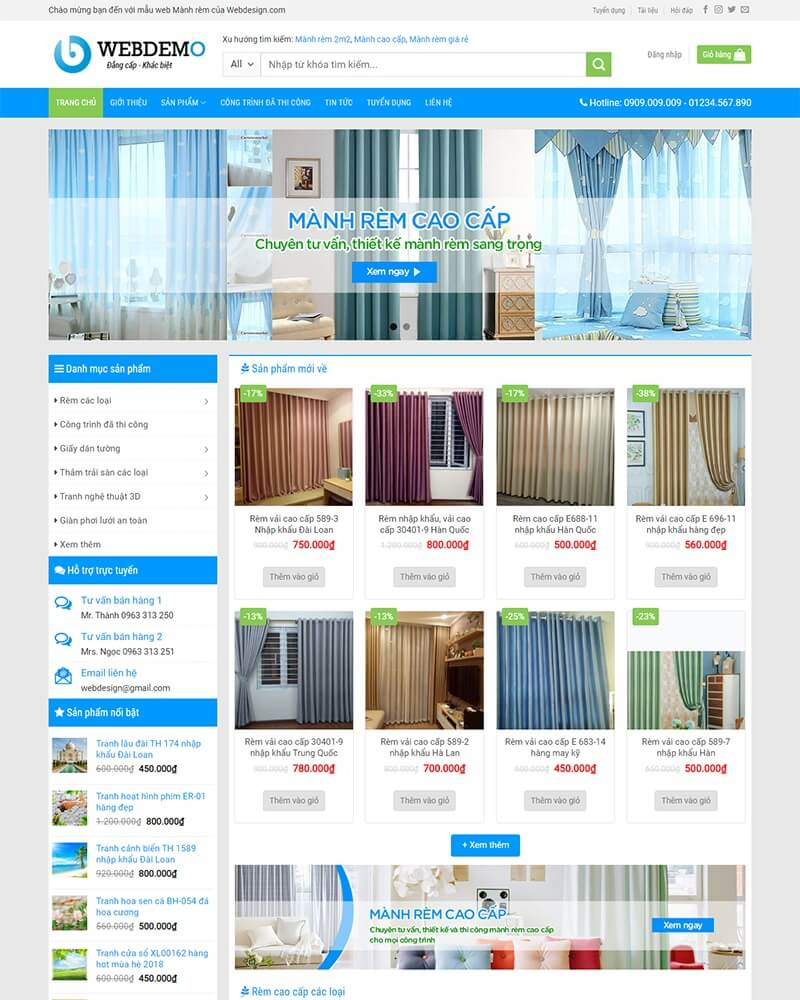 thiết kế website bán hàng uy tín