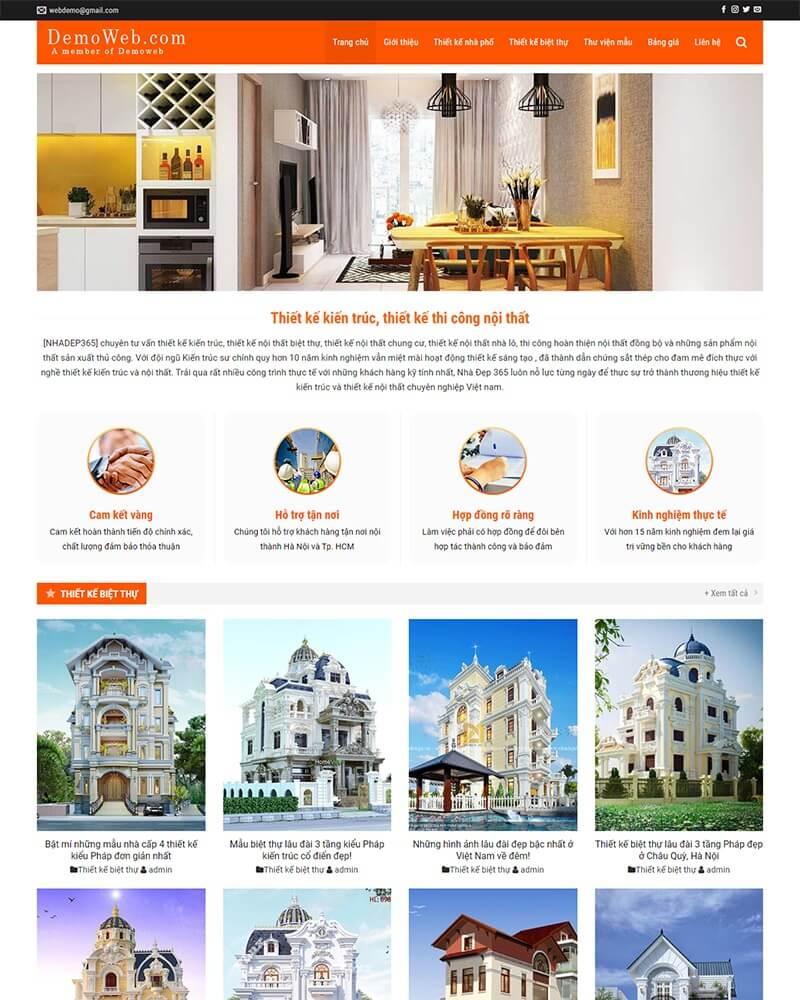 thiết kế website nội thất giá rẻ hà nội