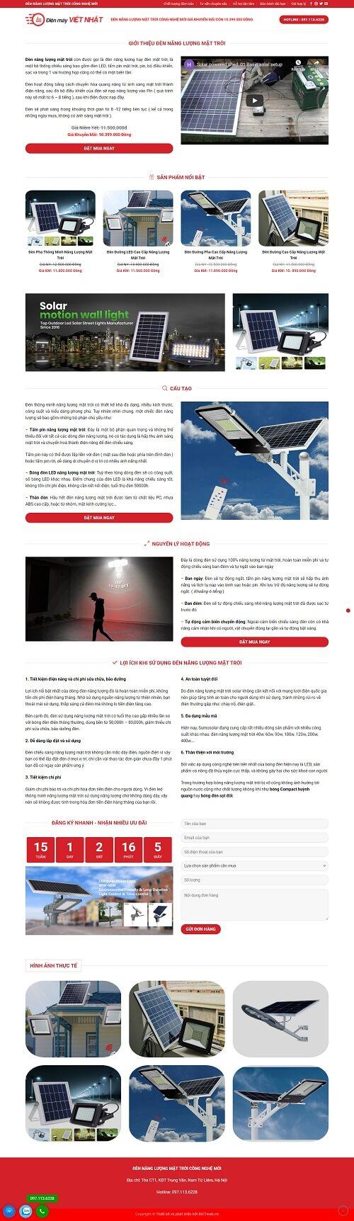 thiết kế website landingpage