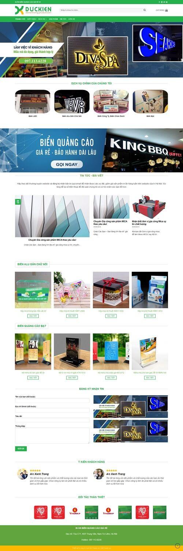 thiết kế website in biển quảng cáo