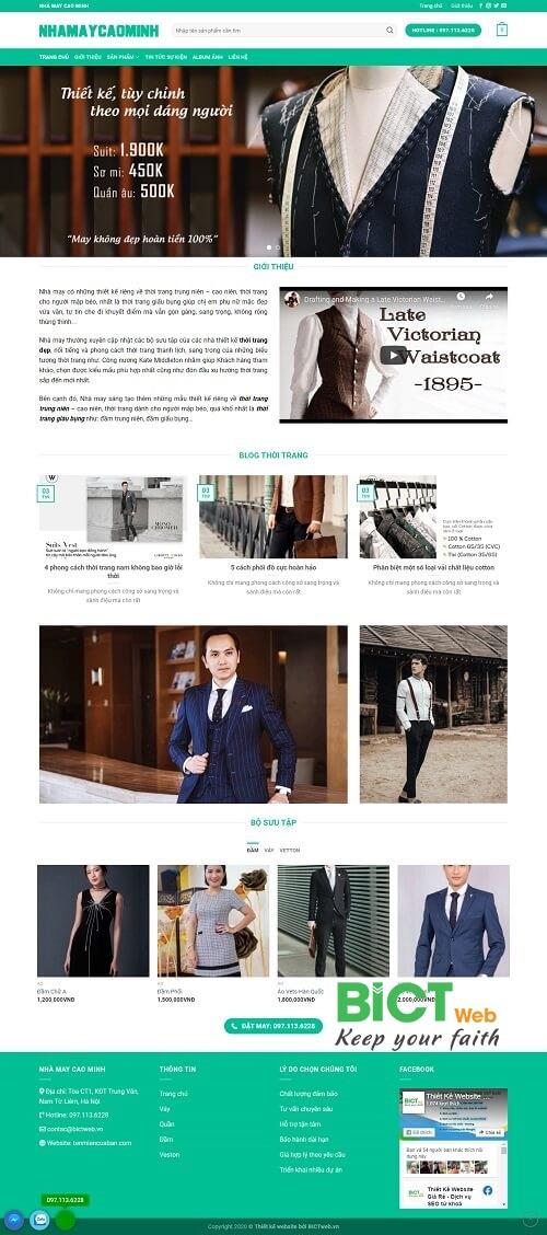 thiết kế website nhà may